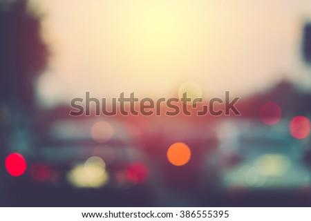 blur traffic jam in bangkok....