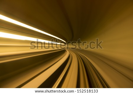 blur tunnel in orange tone