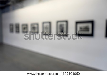 blur white museum room art gallery exhibition display