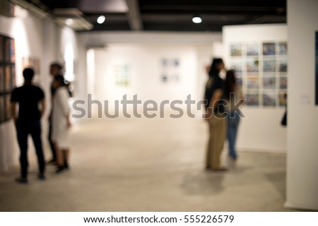 blur white museum room art gallery exhibition display #555226579