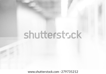 Blur white office background, Business background with white bokeh background, Blur abstract interior in modern office building background, banner