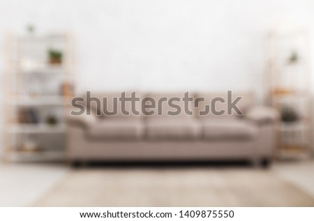 Blured background of modern home living room interior with sofa ストックフォト ©