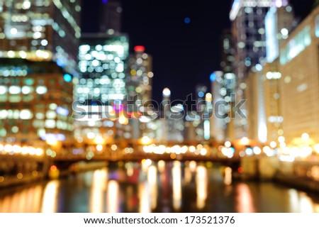Blured Chicago background