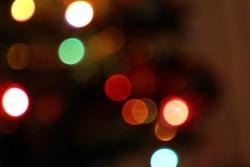 blured lights on darkbrown background
