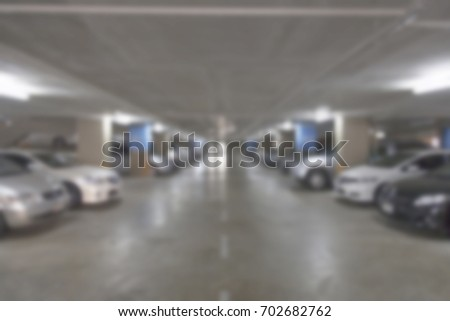 blured parking lot #702682762