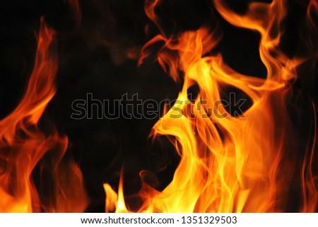 Blurrd Blaze fire flame texture background. #1351329503