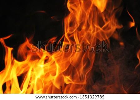 Blurrd Blaze fire flame texture background. #1351329785