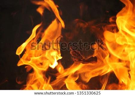 Blurrd Blaze fire flame texture background. #1351330625