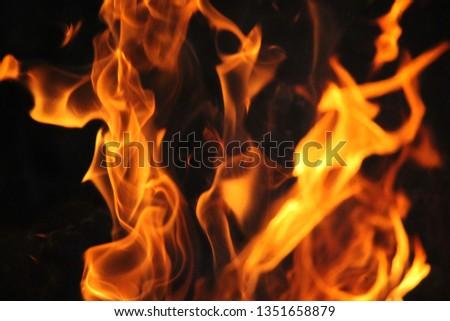 Blurrd Blaze fire flame texture background. #1351658879