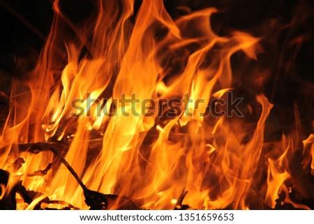 Blurrd Blaze fire flame texture background. #1351659653