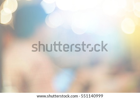 Blurred abstract background of in a restaurant