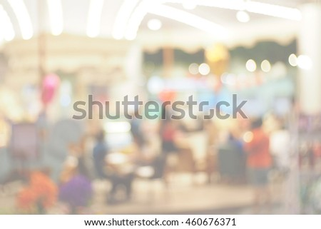 Blurred abstract background of In The Shopping Mall #460676371