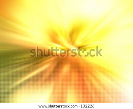 Blurred abstract with a sense of speed or big bang effect