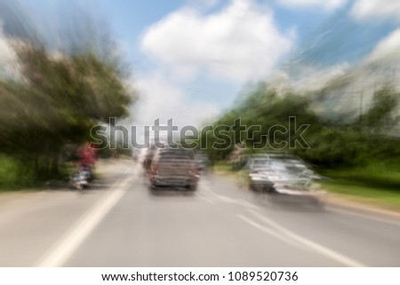 Blurred and double vision while driving with view of the road and feeling of speed. #1089520736
