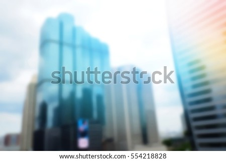 Blurred  background abstract and can be illustration to article of Office Building #554218828