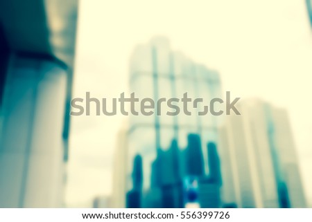Blurred  background abstract and can be illustration to article of Office Building #556399726