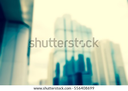 Blurred  background abstract and can be illustration to article of Office Building #556408699