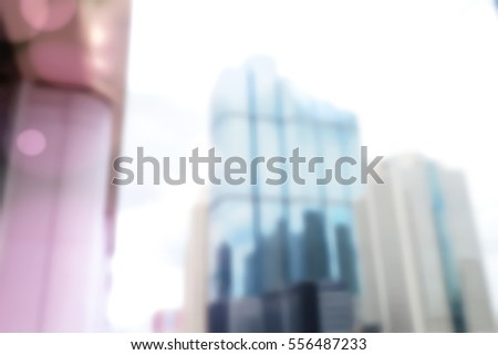 Blurred  background abstract and can be illustration to article of Office Building #556487233
