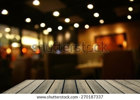 Blurred background : Customer at restaurant blur background with copy space for text #270187337