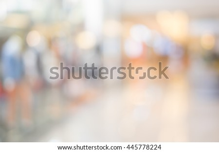 Blurred background :Customer shopping at department store with bokeh light. #445778224