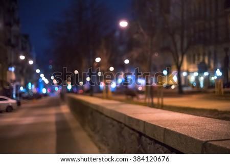 Blurred background, night city #384120676