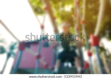blurred background of children...