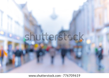 blurred background of Crowded street in Oxford, UK  #776709619