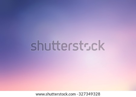 blurred background of evening sunset sky with flare light. #327349328