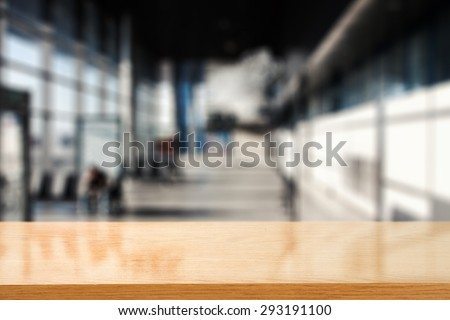 blurred background of gray color and board