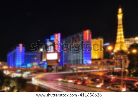blurred background of las vegas ...