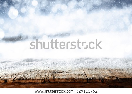 blurred background of winter and ice snow and cold day of winter