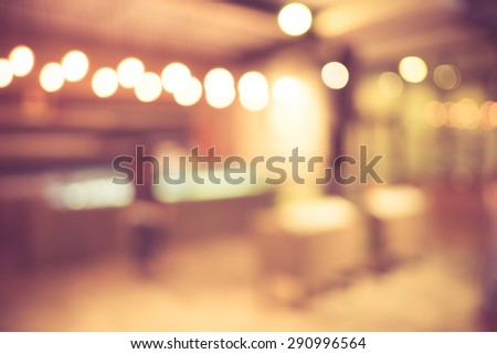 Blurred background : Product on shelf at Bakery shop