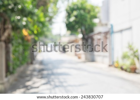 blurred background street in the city