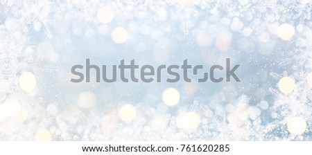 Blurred background with bokeh. Christmas and Happy New Year greeting card. #761620285