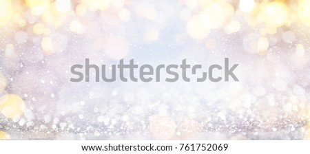 Blurred background with bokeh. Christmas and Happy New Year greeting card. - Shutterstock ID 761752069