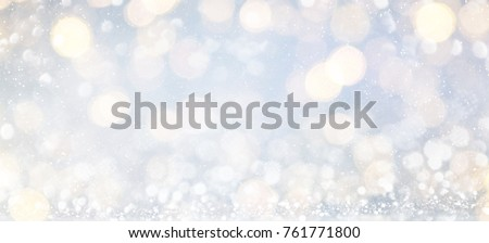 Blurred background with bokeh. Christmas and Happy New Year greeting card. - Shutterstock ID 761771800