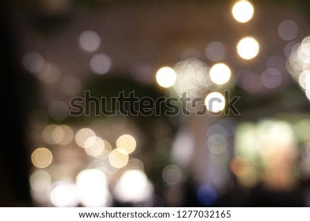 Blurred backgrounds of light bokeh backgrounds, Christmas celebration party new year concept #1277032165