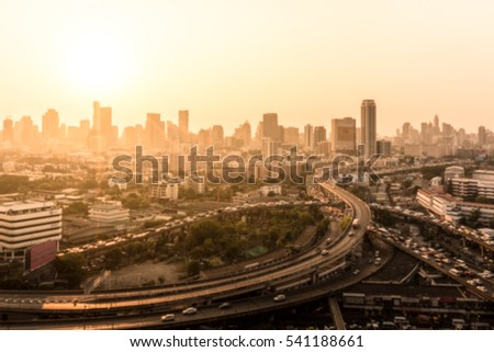 Blurred bangkok cityscape for background #541188661