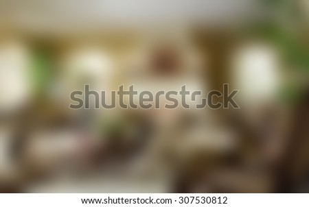 Blurred beautiful living room/sitting room background