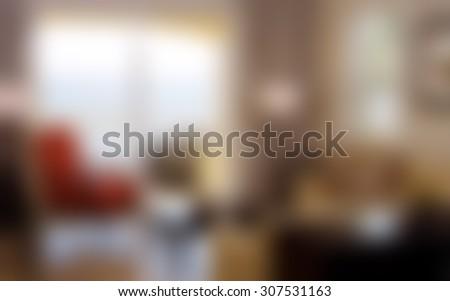 Blurred beautiful modern living room/sitting room background