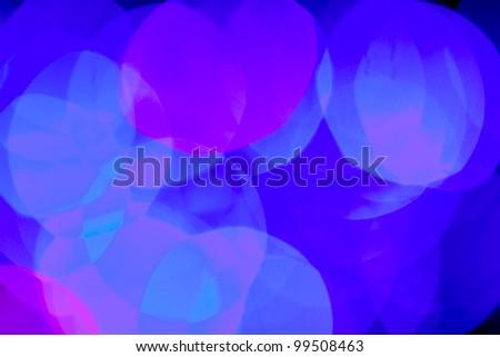Blurred blue color lights background