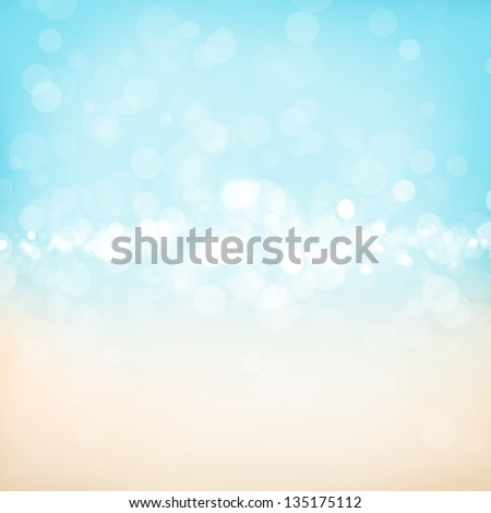 Blurred bokeh abstract nature background with sea cost