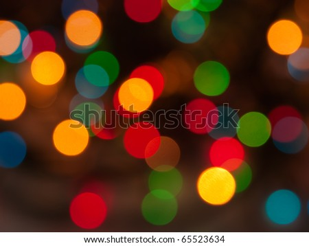 blurred bokeh christmas lights abstract background