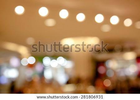 Blurred bokeh lights in shopping center #281806931