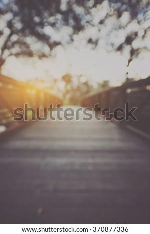 blurred bridge with vintage...