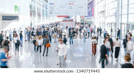 blurred business people at a trade fair Photo stock ©