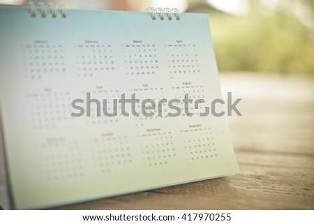 Blurred calendar page blur background. #417970255