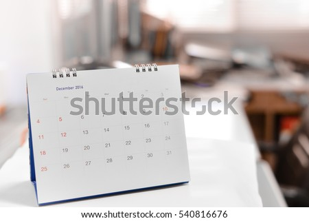 Blurred calendar page in smooth tone. #540816676