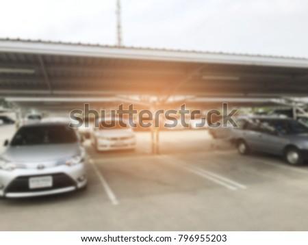 blurred car park background  #796955203