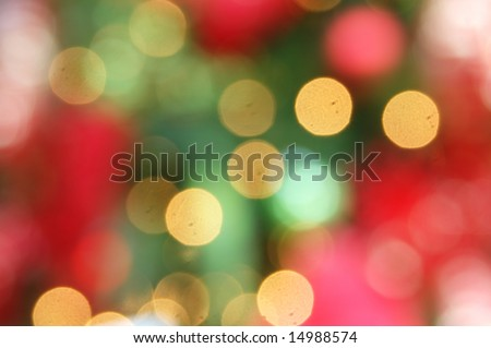blurred christmas light - stock photo